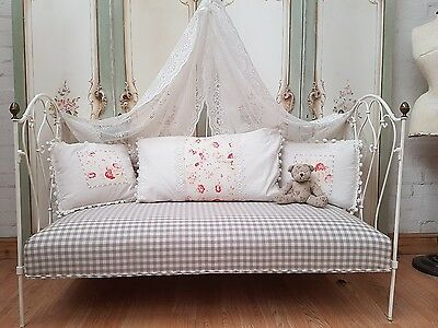 Gorgeous Antique French Iron Day Bed - C1900