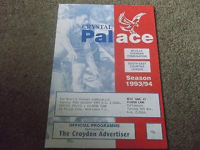 Crystal Palace V Swindon Town Reserves @ Wimbledon 19Th October 1993