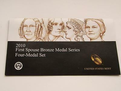 United States Mint USA First Spouse 4 Bronze Medal Set Dated 2010