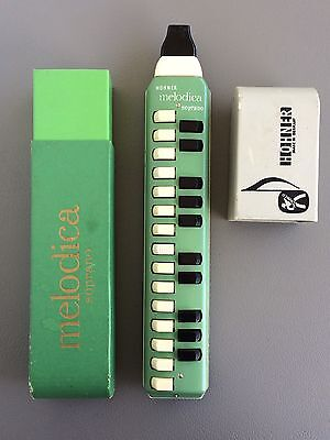 Vintage Green Hohner Melodica Soprano 25 Keys Music Made in Germany Green