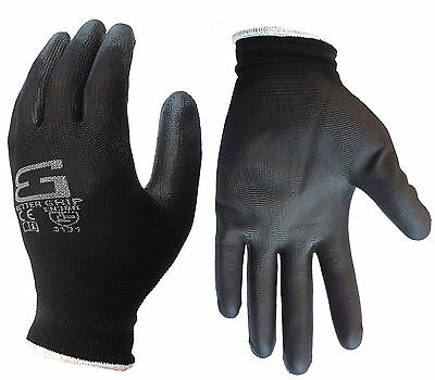 24 Pair Better Grip All Purpose Ultra-Thin Polyurethane Palm Coated Work Gloves