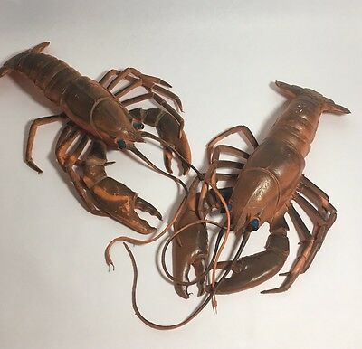 Pair Vintage Rubber Party Lobsters