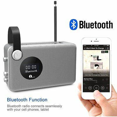 1byone bluetooth digital radio tragbar dab fm ukw empfang. Black Bedroom Furniture Sets. Home Design Ideas
