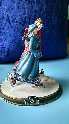 Norman Rockwell -The Skaters' Waltz Figurine-Exclusive Anniversary Edition-1995