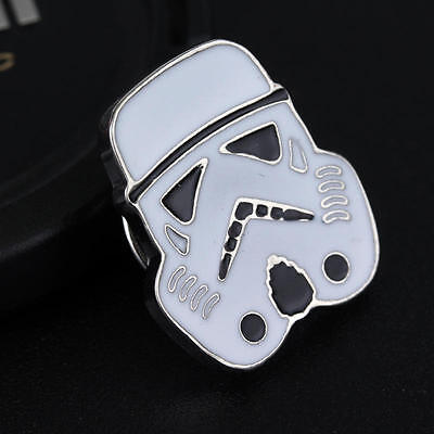 WHT1 STAR WARS STORMTROOPER Logo Metal Pin brooch prop badge darth vader cosplay