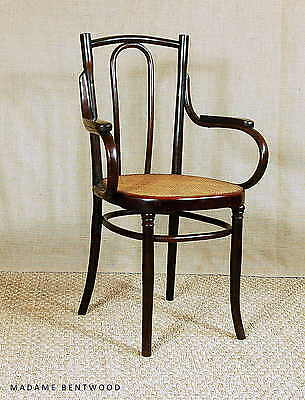 """Fauteuil bistrot viennois N°56 MUNDUS 1910 ca cannage """"extra fin"""""""