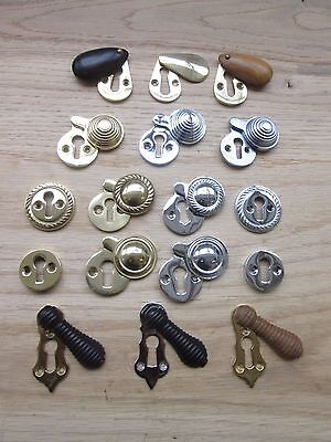 Solid Brass  Keyhole Key Hole Plate Covers Door Lock Escutcheons