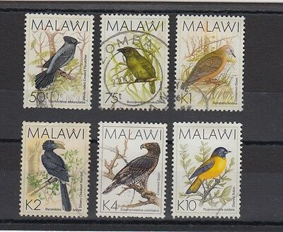 Malawi 1988 Birds 75t-10k Stamps Used Hinged No Gum (#1758)