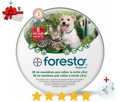 Seresto/Foresto Flea & Tick Collar for Small Dogs & Cats Up to 18lbs (8kg)