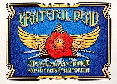 Grateful Dead Fare Thee Well Poster Winged Rose by Dave Hunter. 1st Edition