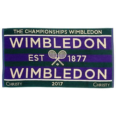 Christy Mens Wimbledon Championships Towel - NEW 2017 Tennis Tournament