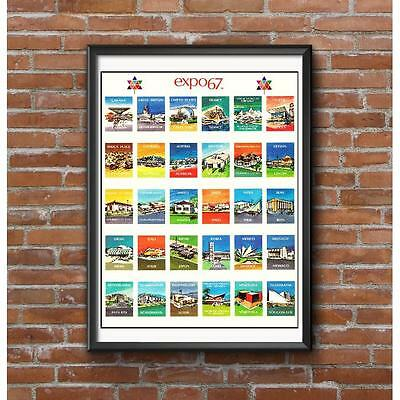 Expo '67 Pavilions Poster - Montreal World's Fair