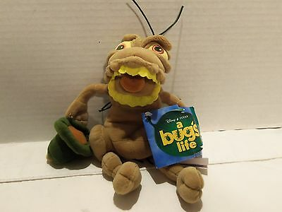 Vintage 1998 Disney A Bug Life (P.t. Flea) Beanie Plush- New Ith Tags- Very Rare