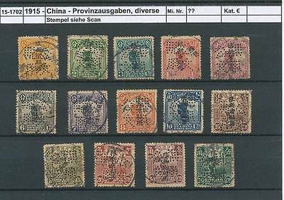 China Province Sinkiang with perforation and overprint 1915