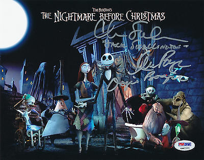 THE NIGHTMARE BEFORE CHRISTMAS 8x10 Signed Photo by Chris Sarandon & Ken Page.