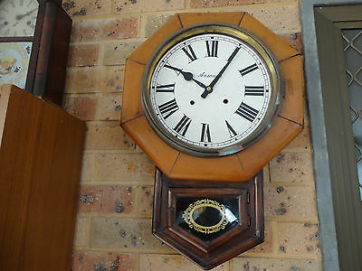 Antique School Wall Ansonia Working Clock