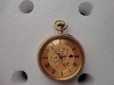 Solid 18k gold working pocket watch Chester 1909 hallmarked