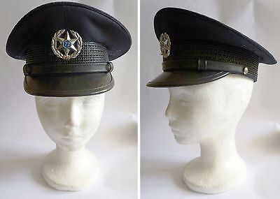 Israel National Police - Officers Policemans M Cap Hat W/ Badge & Signs ! New.