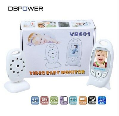 """DBPOWER 2.0"""" Color LCD Video Wireless Baby Monitor 2 Way Talk Night Vision IR"""