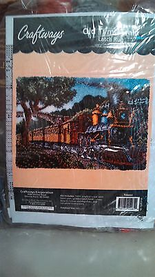 Craftways Latch Hook Olde Tyme Train At at the Station 138432 27 x 40