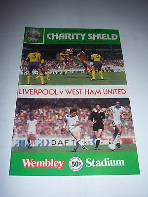 1980 FA CHARITY SHIELD - LIVERPOOL v WEST HAM UNITED - FOOTBALL PROGRAMME