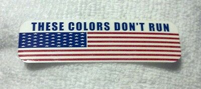 These Colors Dont Run U.S. Flag Motorcycle Helmet Sticker Biker Helmet Decal
