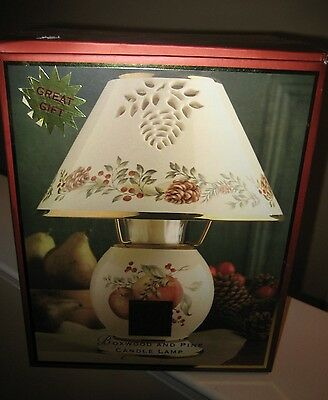 Lenox Boxwood And Pine Candle Lamp - Brand New In Box