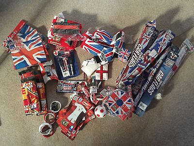 Carboot Sale Joblot 76 England Football/GB Items