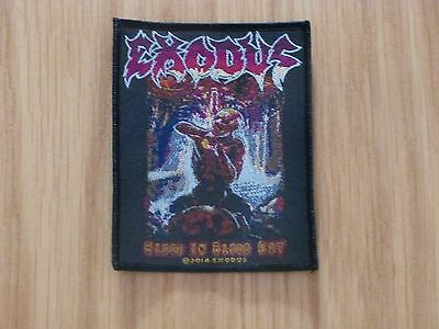 Exodus - Blood In Blood Out  (New) Sew On W-Patch Official Band Merch