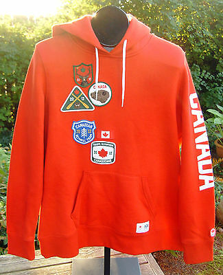 London 2012 OLYMPIC TEAM CANADA Hoodie Womens Large Red Pullover New With tags
