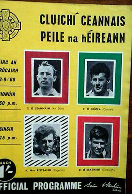 Down V Kerry 22/9/1968 Gaa All Ireland Football Final