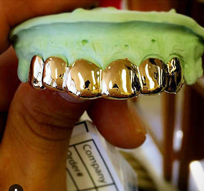 Real 10K Solid Yellow Gold Grillz Custom Fit Grill To Your Teeth