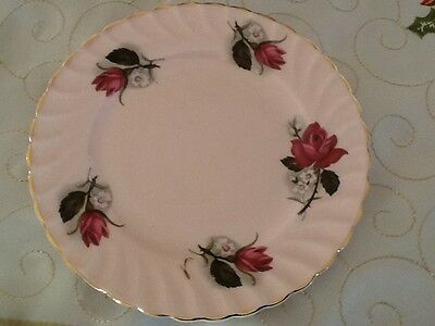 Vintage Queen Anne Pink Roses Bread and Butter Plate Replacement Spare VGC