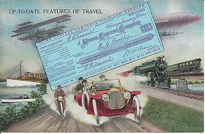 Up To Date Features Of Travel,adams Express Companys Travelers Cheques,all Over