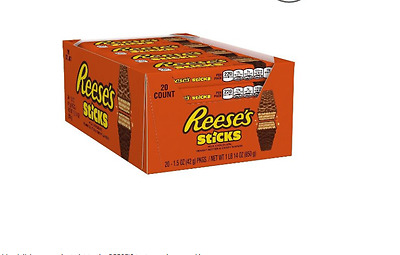 NEW!!!REESE STICKS Wafer Bars (1.5-Ounce, Pack of 20)(6/2017)