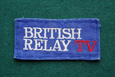 British Relay Wireless TV Patch/Cloth Badge - Vintage Advertising - UK