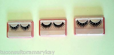 3 Pares de pestañas postizas fantasia brillantes eyes diamantes Nuevo + Regalo