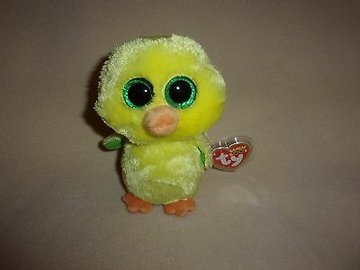 """Ty Mwmt Nugget The Yellow Chick Beanie Boo- 6"""" Beanie Boos- Cute For Easter!"""
