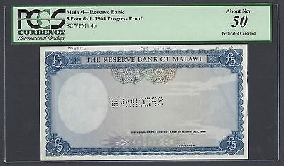 Malawi 5 Pounds L1964 P4p Proof  About Uncirculated