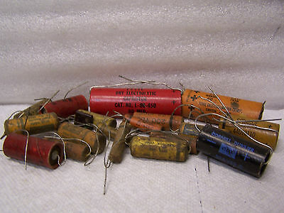 Large Lot of Mixed Vintage Old Capacitors Used For Parts #2