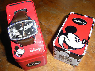 Genuine Disney Mickey Mouse watch gift boxed in Mickey mouse and pluto tin