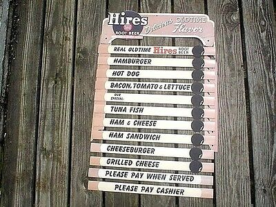 Vintage Hires Root Beer Soda Fountain Menu Sign