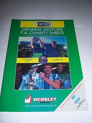 1987 FA CHARITY SHIELD - COVENTRY CITY v EVERTON - FOOTBALL PROGRAMME