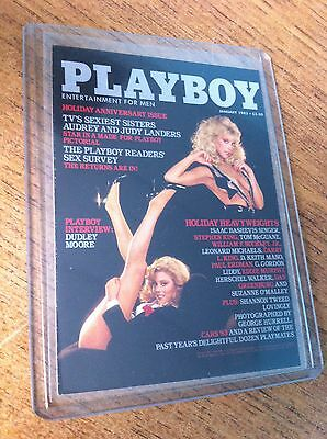 1993 Playboy Cover Trading Card Audrey And Judy Landers  January 1983 Excellent
