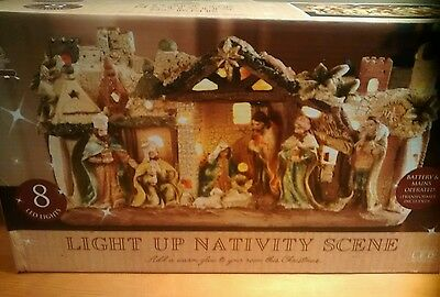 Light Up Nativity Scene Christmas Decoration - Mains operated Brand New