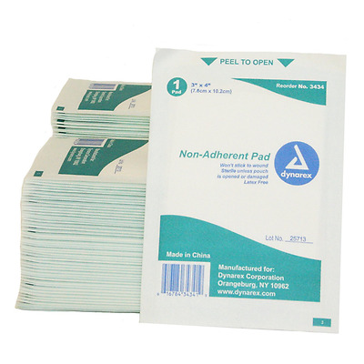 Mesh Non-Adherent Pads, 3-Inch X 4-Inch, Non Stick Sterile (Pack of 100)