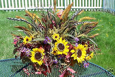 Fathers Day Summer Fall Memorial Flowers Cemetery Tombstone Saddle Feathers Man
