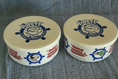 Popeye the Sailor Man/Olive Oyl; Quaker Oats 1990 Oatmeal Bowl w/Lid;PROMO!!!
