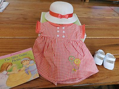 American Girl Bitty Baby Twin Girl Birthday Dress Outfit  New In Box  Retired