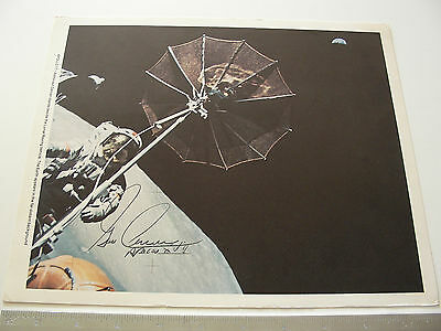 Apollo 17 Gene Cernan Authentically Handsigned/Autographed 9x11 NASA Litho Photo